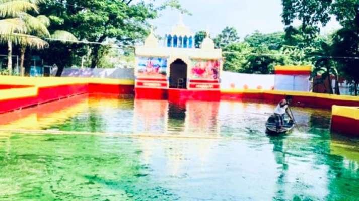 জগন্নাথপুরে ৪০টি পূজামণ্ডপে দূর্গা পূজা শুরু