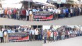 বিয়ানীবাজারে অটোরিকশা চালকদের মানববন্ধন: তুচ্ছ কারণে ধর্মঘট